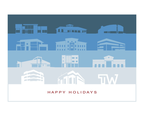Graphic Design for Holiday Card for Therrien Waddell