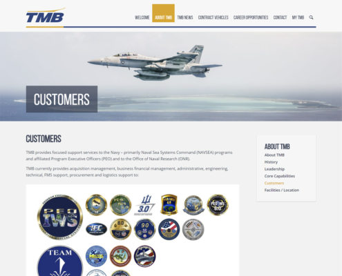 WordPress Web Design and WordPress Web Development for TMB - Customers