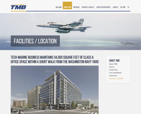 WordPress Web Design and WordPress Web Development for TMB - Facilities