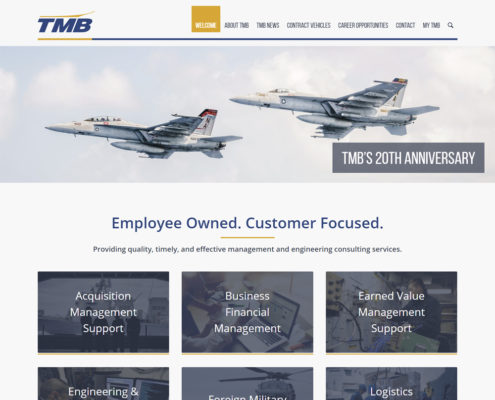 WordPress Website Design and WordPress Website Development for TMB - Welcome 1