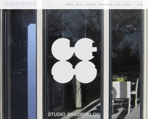 Alphabet Gallery Website Design - Contemporary Alphabet - Less Installation - Studio Snaidero DC