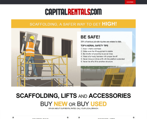 Website Design and WordPress Website Development for Capital Rentals on desktop - Upper - Welcome
