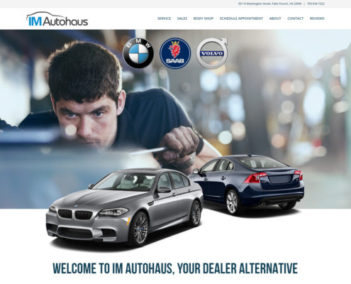 Website Design and WordPress Website Development for IM Autohaus - Welcome