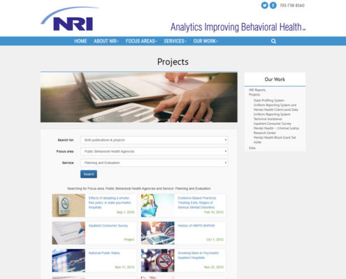 Web Design and Umbraco Web Development for NRI - Projects