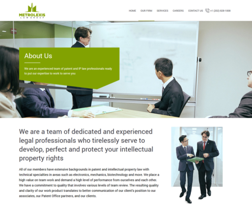 METROLEXIS Website Design - About page