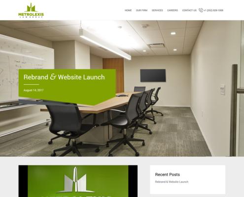 METROLEXIS Website Design - Blog page