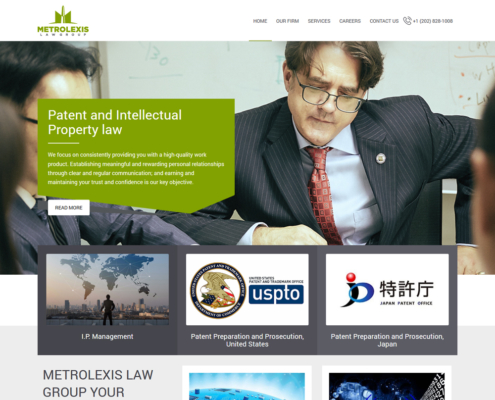 METROLEXIS Website Design - Welcome page