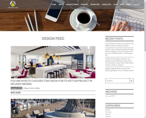 Apartment Zero - WordPress Website Design - Blog