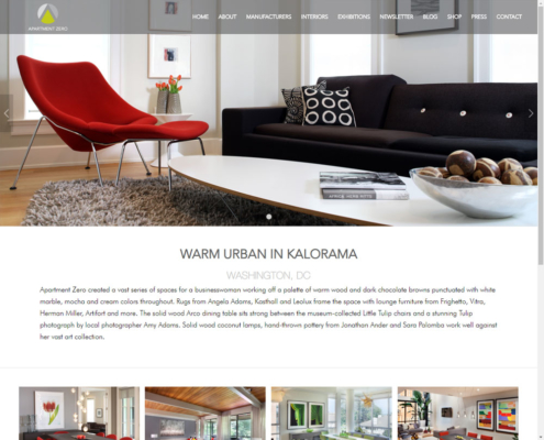 Apartment Zero - WordPress Website Design - Interiors Project