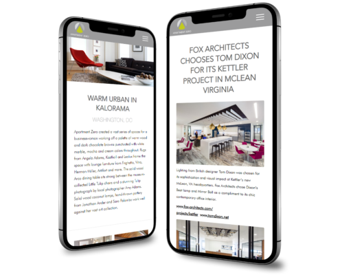 Apartment Zero - WordPress Website Design - Interiors Project + Blog Post