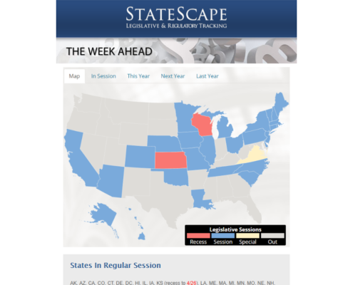 StateScape Email Newsletter - The Week Ahead