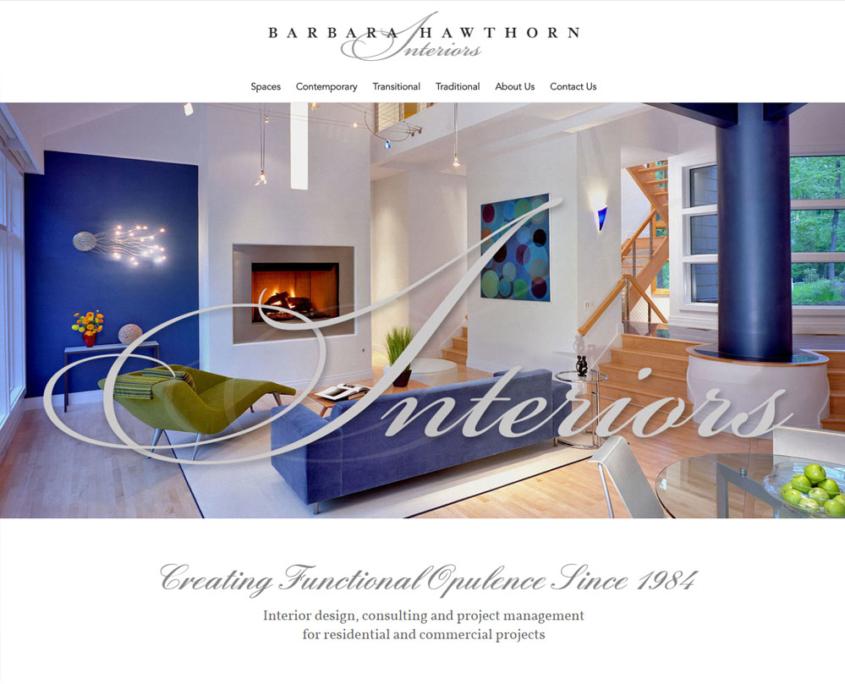 WordPress Website Design and WordPress Website Development for Barbara Hawthorn Interiors - Welcome 1