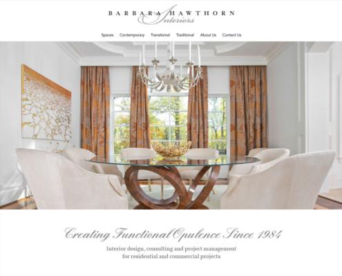 WordPress Website Design and WordPress Website Development for Barbara Hawthorn Interiors - Welcome 3