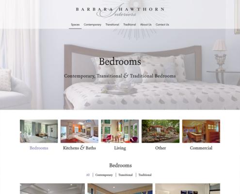 WordPress Website Design and WordPress Website Development for Barbara Hawthorn Interiors - Bedrooms