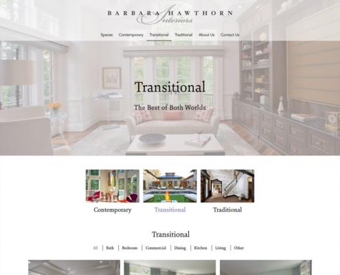 WordPress Website Design and WordPress Website Development for Barbara Hawthorn Interiors - Transitional