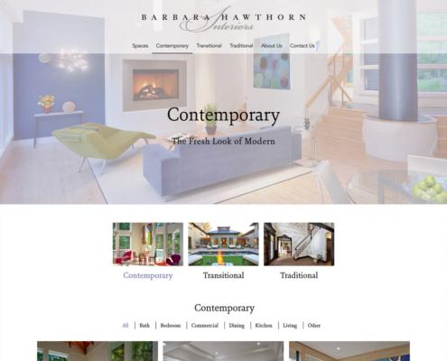 WordPress Website Design and WordPress Website Development for Barbara Hawthorn Interiors - Contemporary