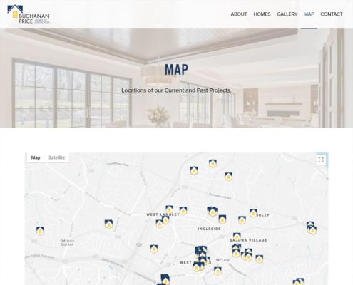 WordPress Website Design and WordPress Website Development for BUCHANAN · PRICE - Map