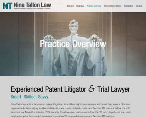 Nina Tallon Law website - Practice Overview