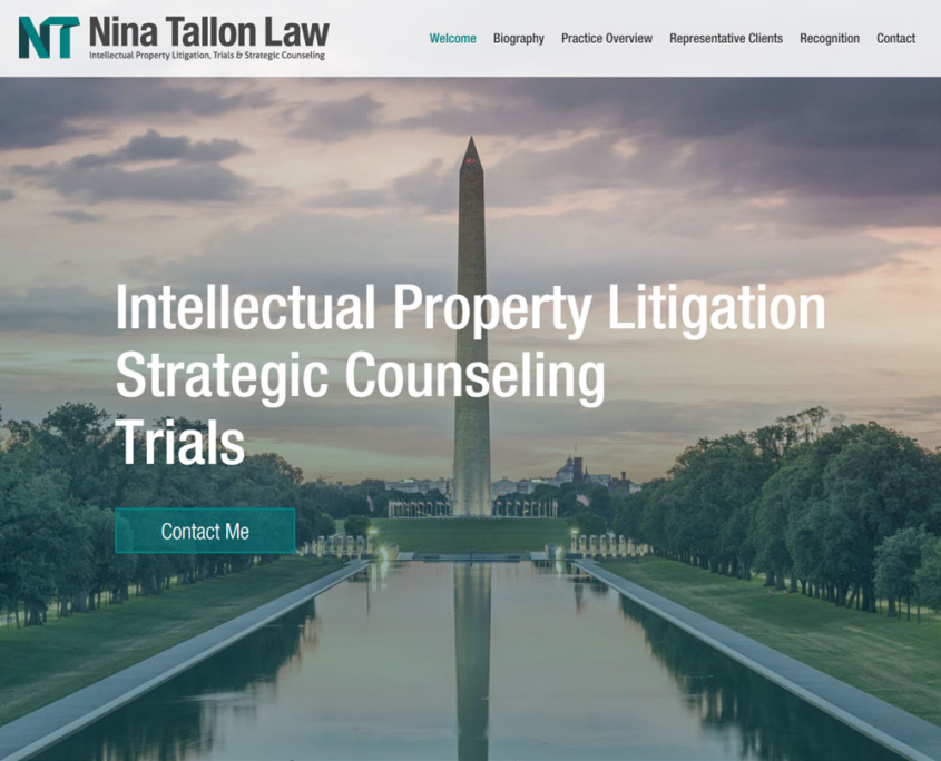 Nina Tallon Law website - Welcome