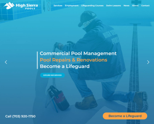 High Sierra Pools Website - Welcome 1
