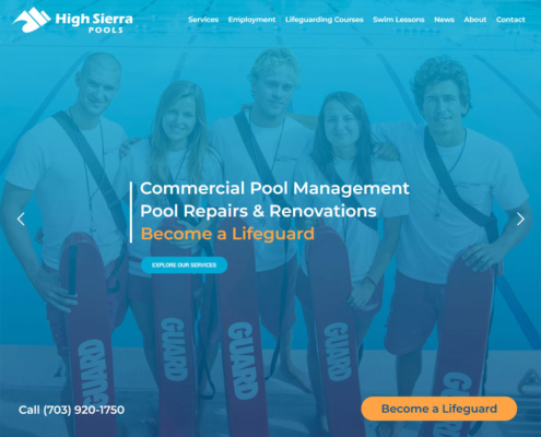 High Sierra Pools Website - Welcome 2