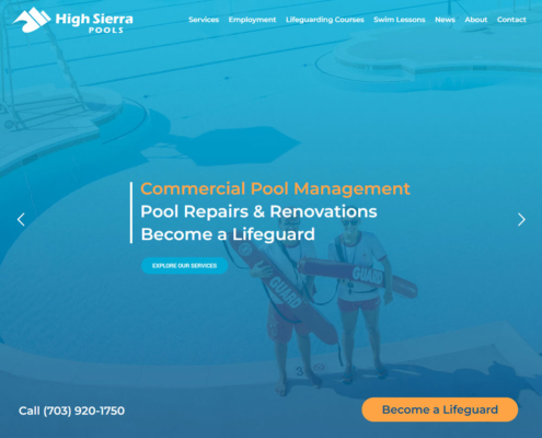 High Sierra Pools Website - Welcome 3