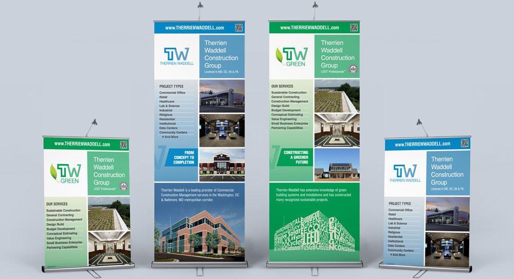 Print Design - Roller Banner for Therrien Waddell Construction Group