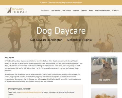 The Board Hound Website - Dog Daycare